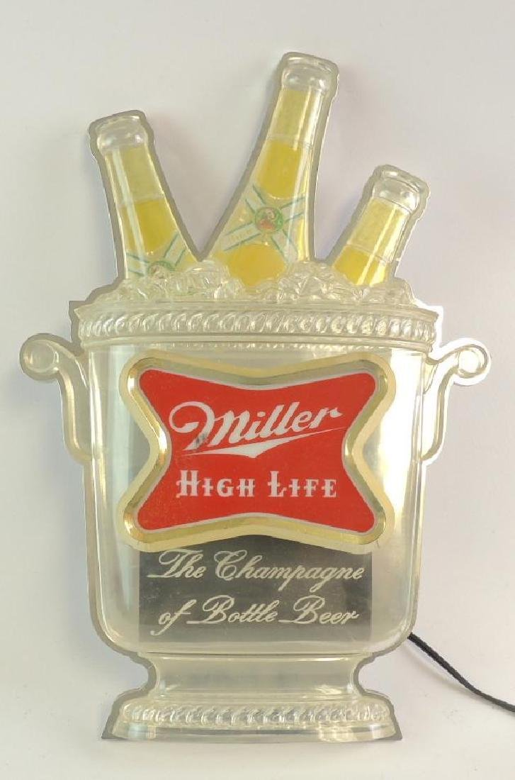 Vintage Miller High Life Advertising Light Up Beer Sign