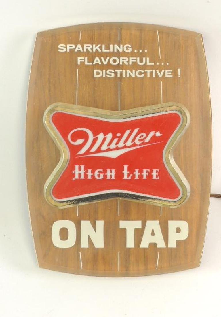 "Vintage Miller High Life ""On Tap"" Advertising Light Up"