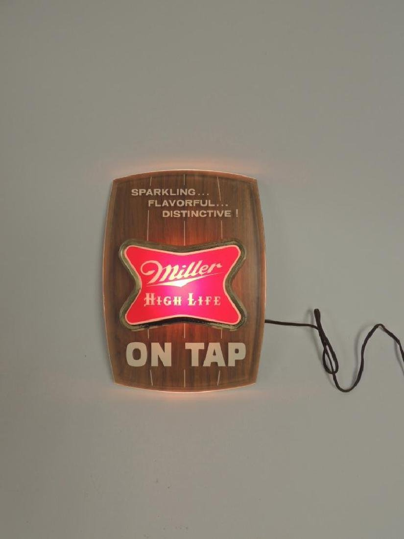 "Vintage Miller High Life ""On Tap"" Advertising Light Up - 2"