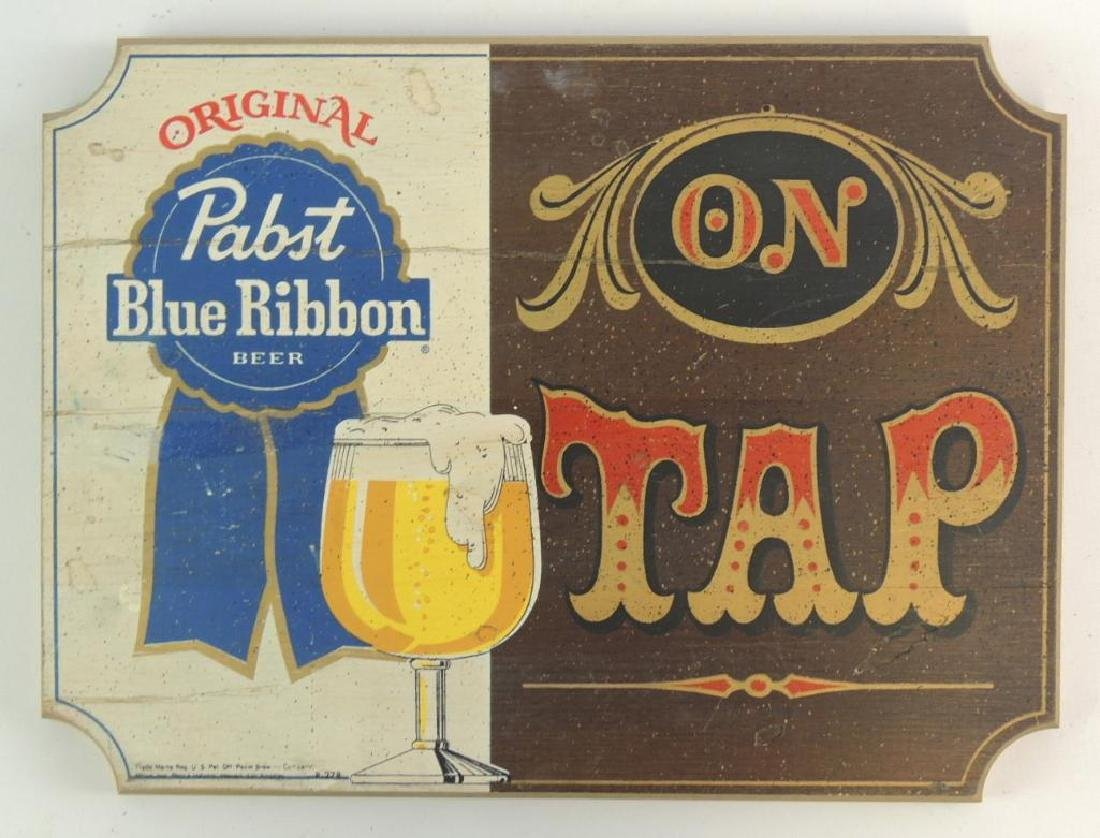 Pabst Blue Ribbon Advertising Wood Beer Sign