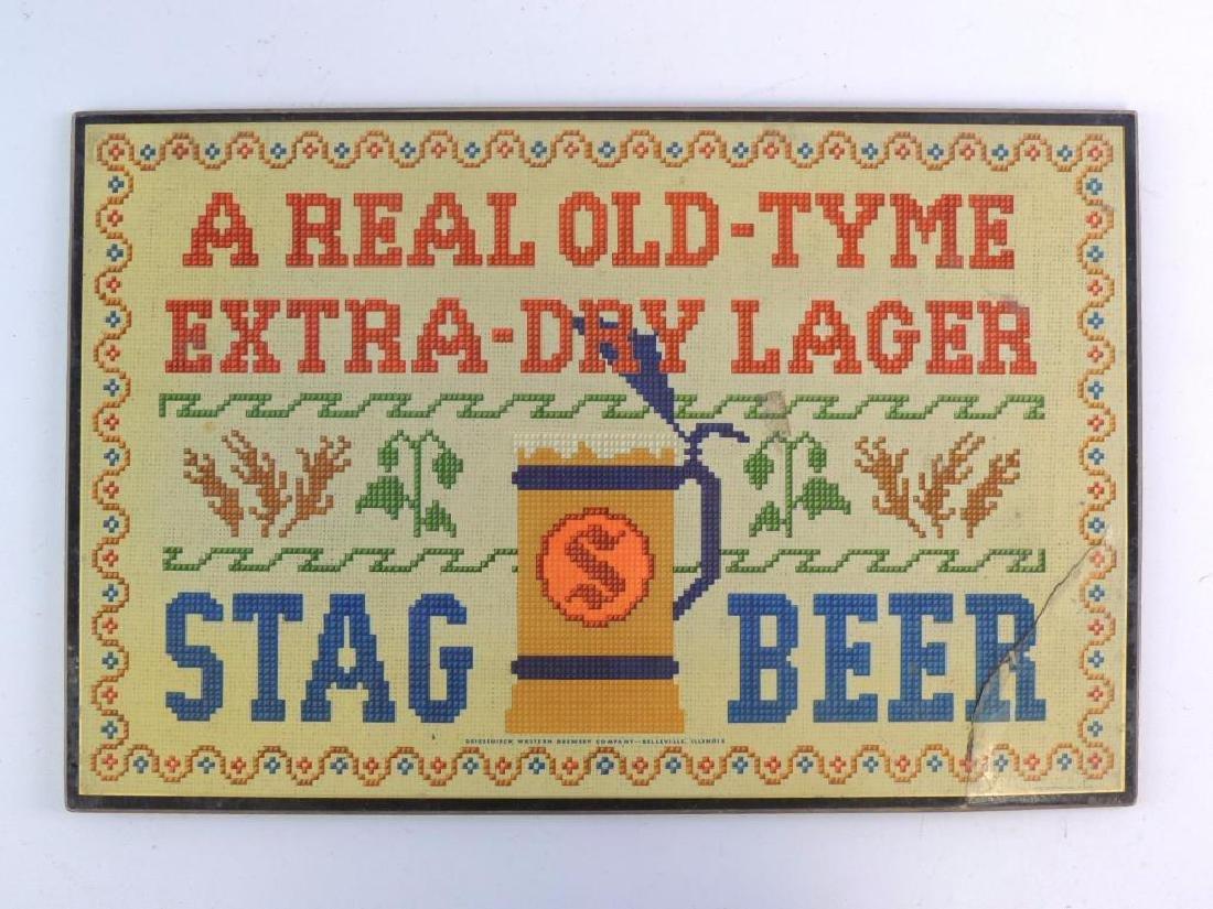 Vintage Stag Beer Advertising Sign