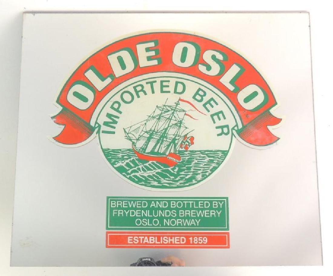 Vintage Olde Oslo Imported Beer Advertising Mirror