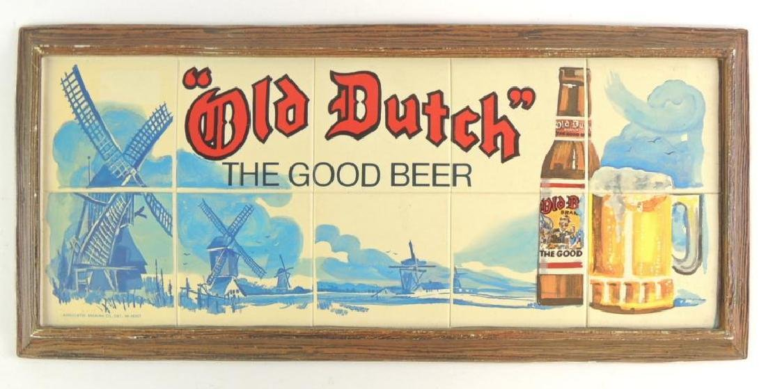 Vintage Old Dutch Advertising Beer Sign