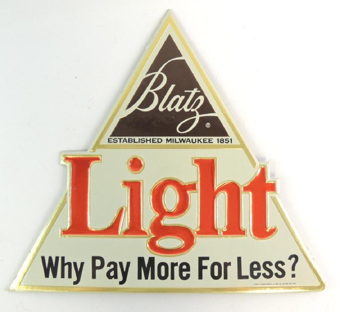"""Vintage Blatz Light """"Why Pay More For Less"""" Advertising"""