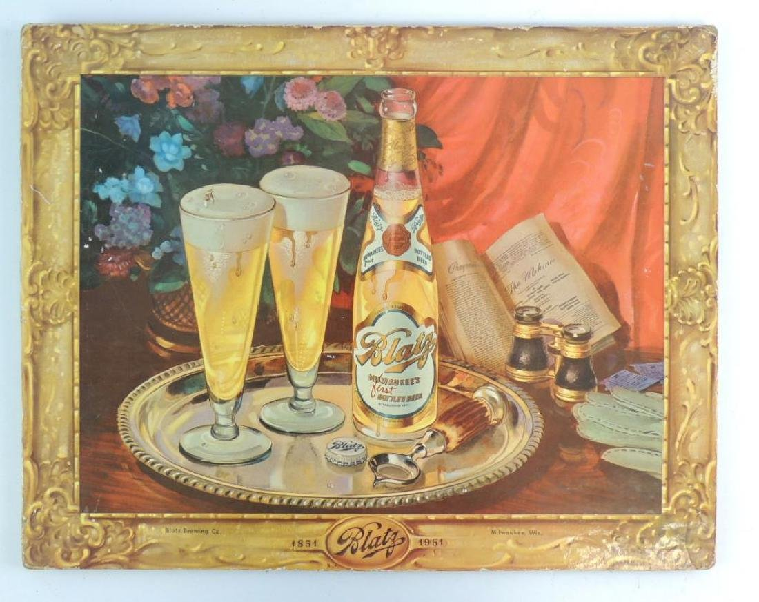 Vintage Blatz Advertising Counter Top Beer Sign