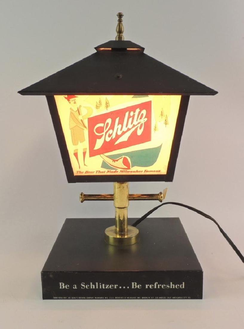 Vintage Schlitz Advertising Light Up Lamp Post Beer