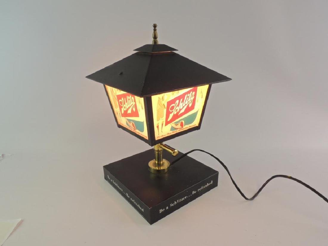 Vintage Schlitz Advertising Light Up Lamp Post Beer - 3
