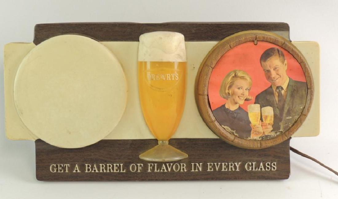 Vintage Drewry's Advertising Light Up Beer Sign
