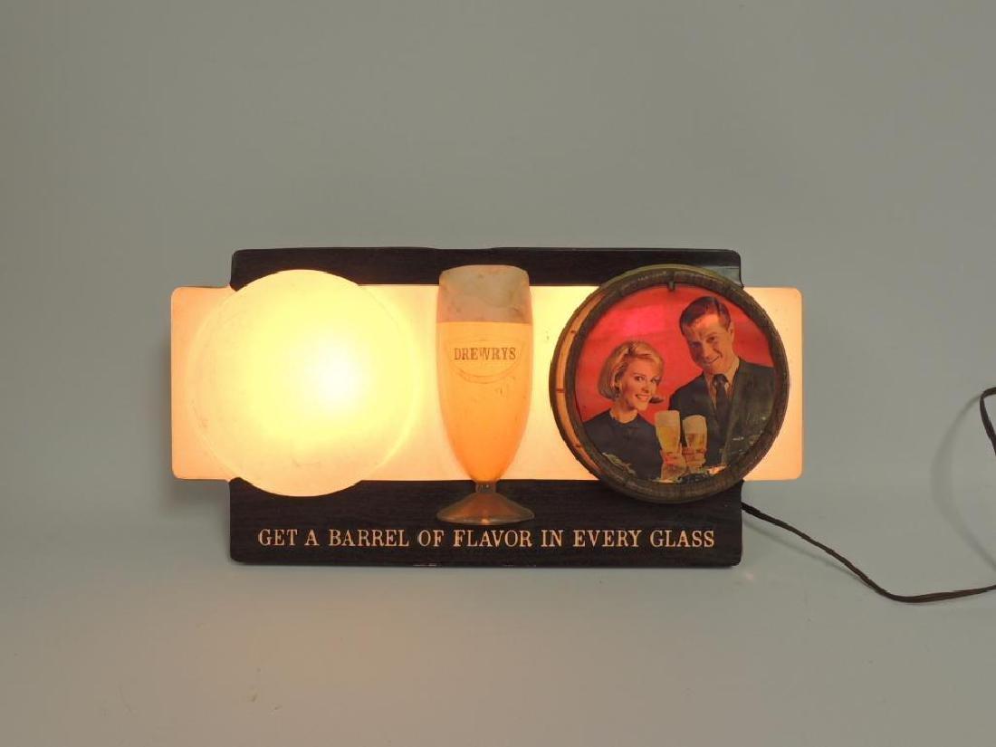 Vintage Drewry's Advertising Light Up Beer Sign - 2