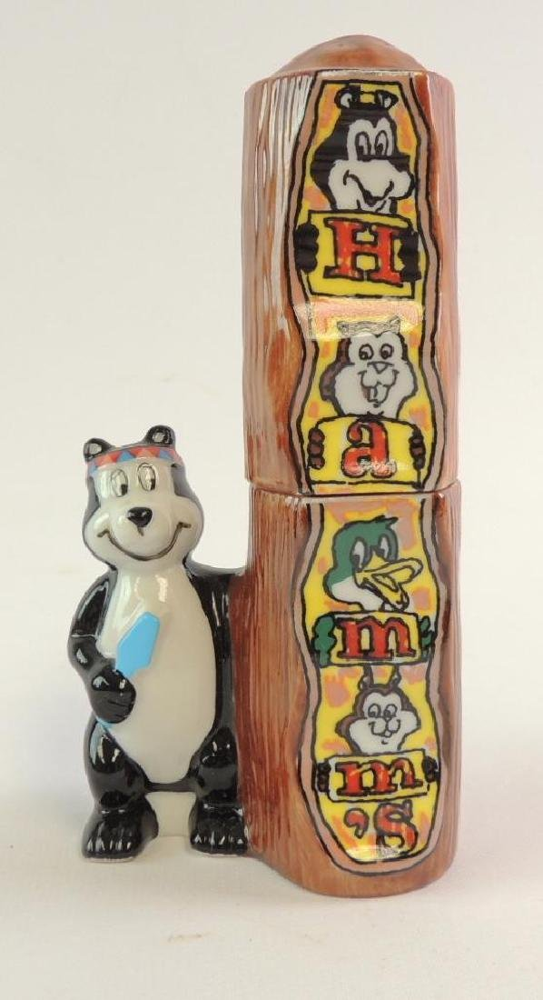 Hamm's Beer Totem Pole Advertising Salt and Pepper