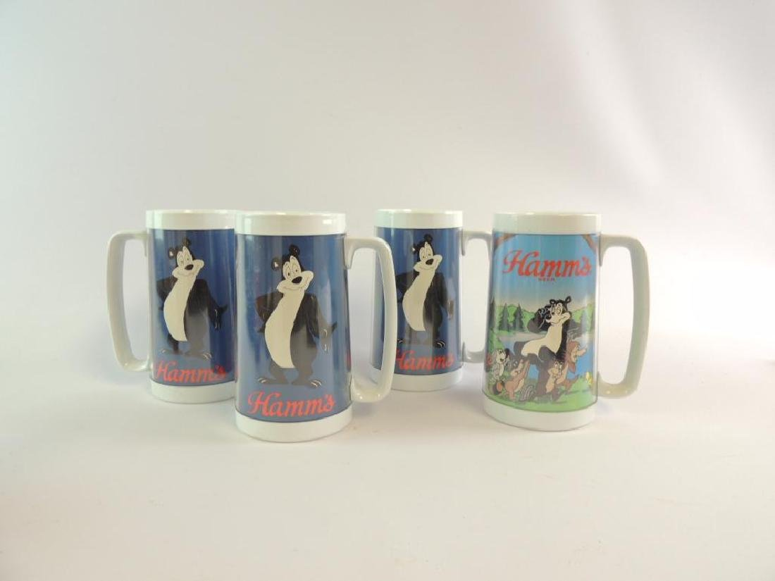 Group of 4 Hamm's Plastic Advertising Steins - 2