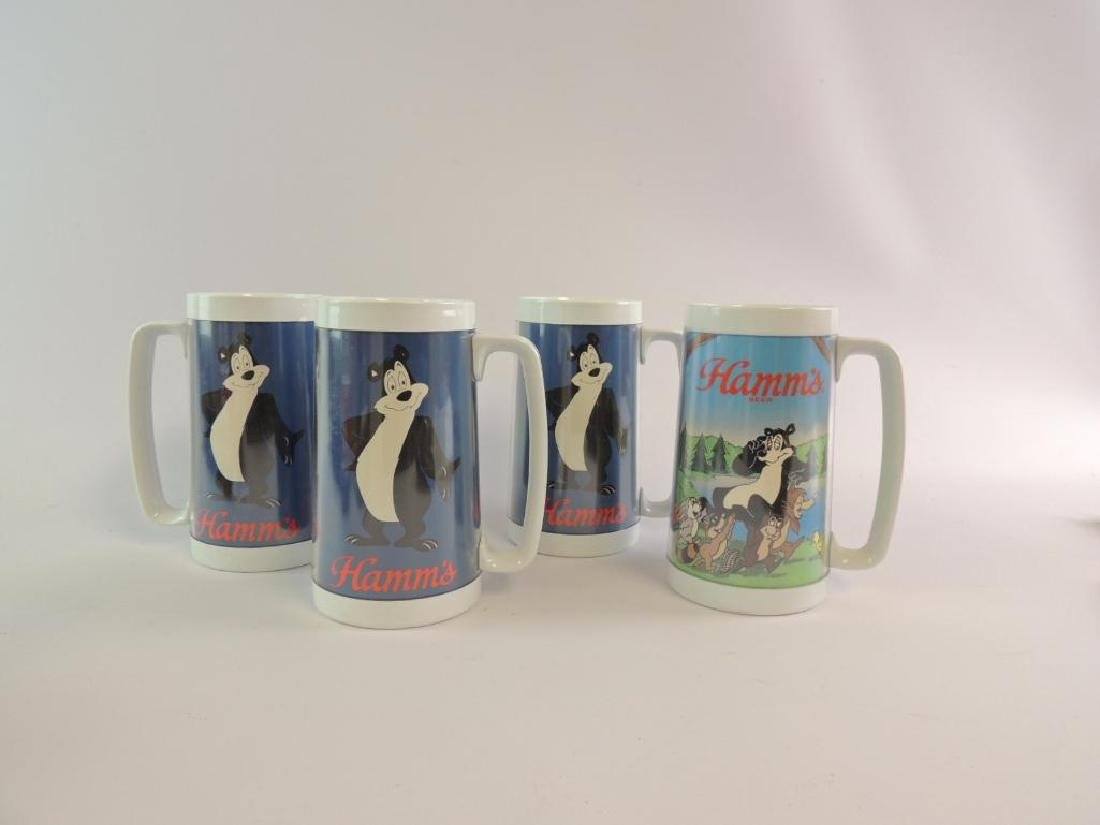 Group of 4 Hamm's Plastic Advertising Steins - 3