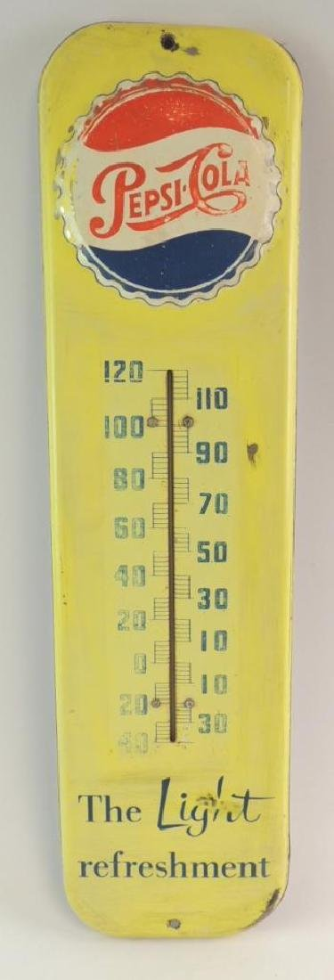 Vintage Pepsi-Cola Advertising Thermometer