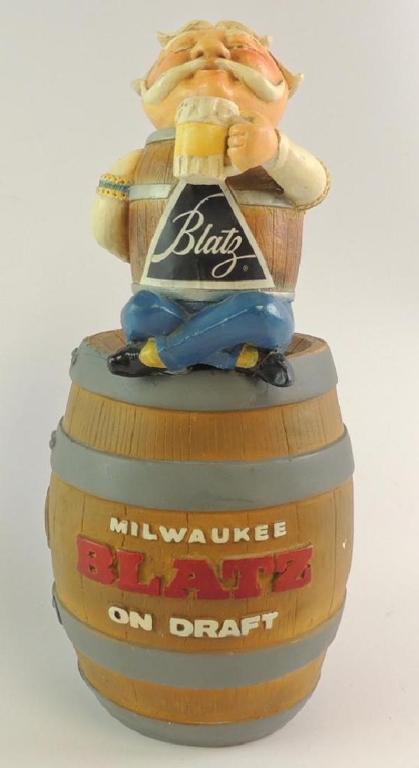 Vintage Blatz Advertising Counter Top Beer Statue
