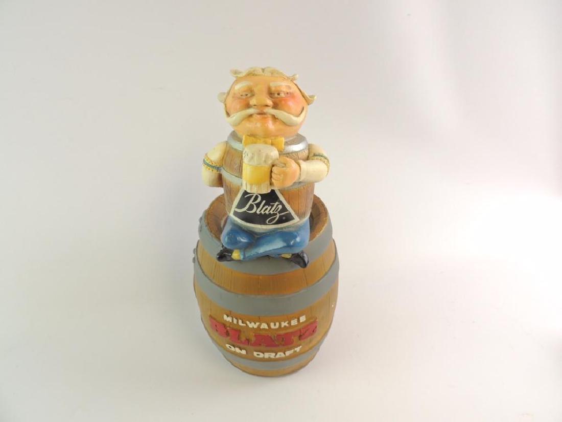 Vintage Blatz Advertising Counter Top Beer Statue - 2