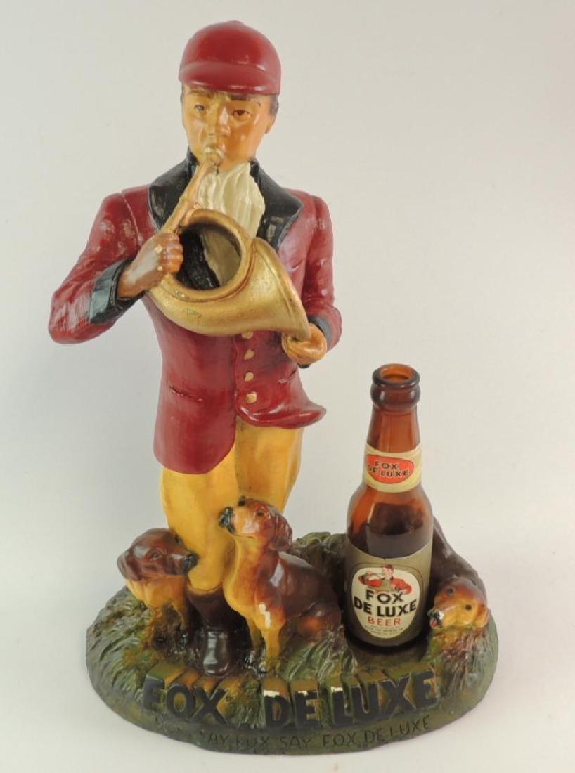 Vintage Fox Deluxe Advertising Counter Top Beer Statue - 2
