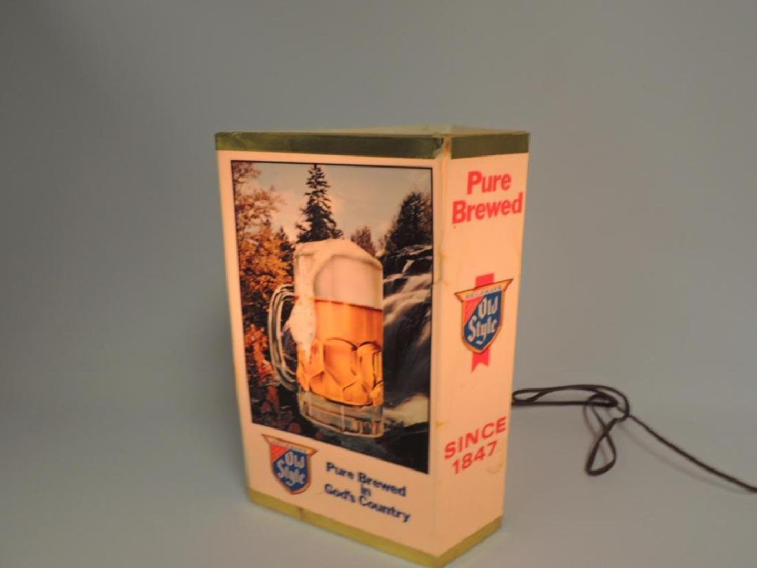 Vintage Heileman's Old Style Advertising Light Up Beer - 3