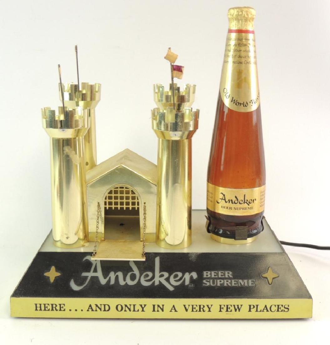 Vintage Andeker Advertising Light Up Beer Sign