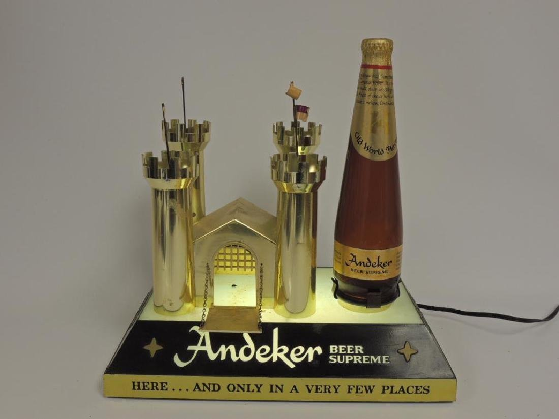 Vintage Andeker Advertising Light Up Beer Sign - 2