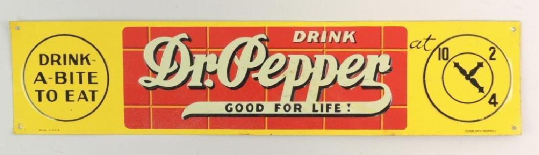 Vintage Dr. Pepper 10,2,4 Advertising Tin Tacker/Door
