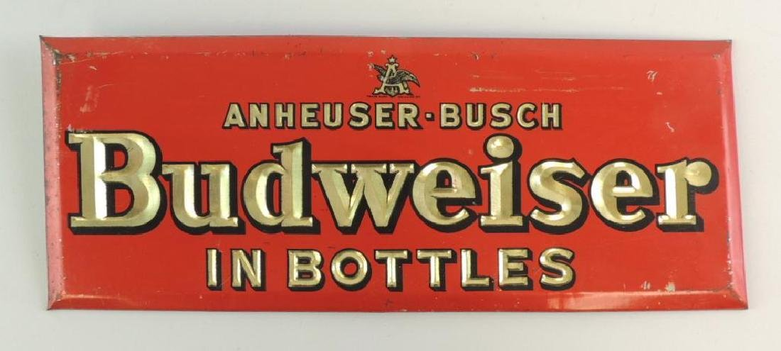 Vintage Budweiser Advertising Beer Sign