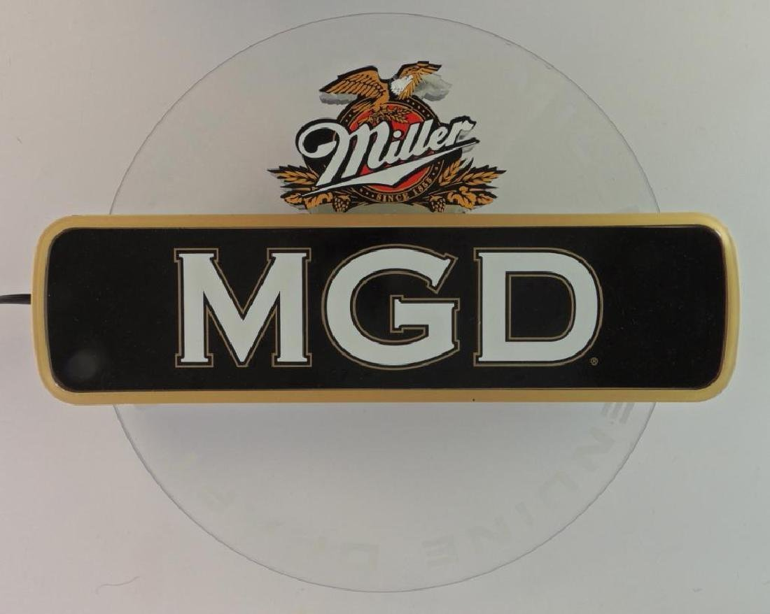Miller MGD Advertising Light Up Motion Beer Sign