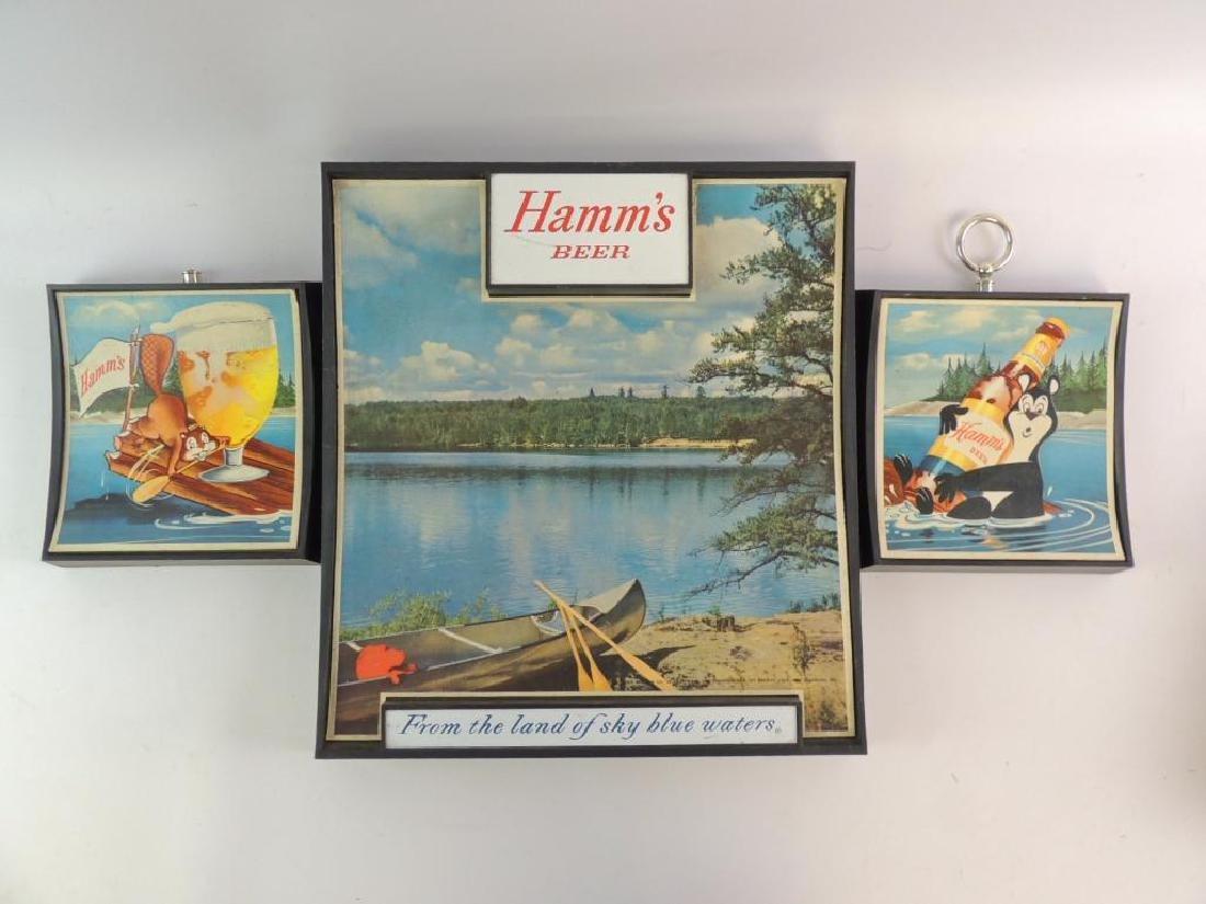 Group of 3 Vintage Hamm's Beer Advertising Signs