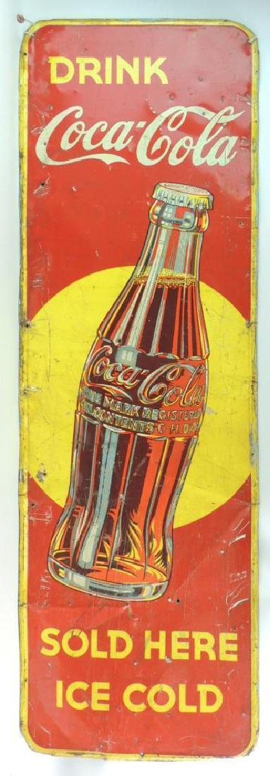 "Vintage Coca-Cola ""Sold Here"" Advertising Metal Sign"