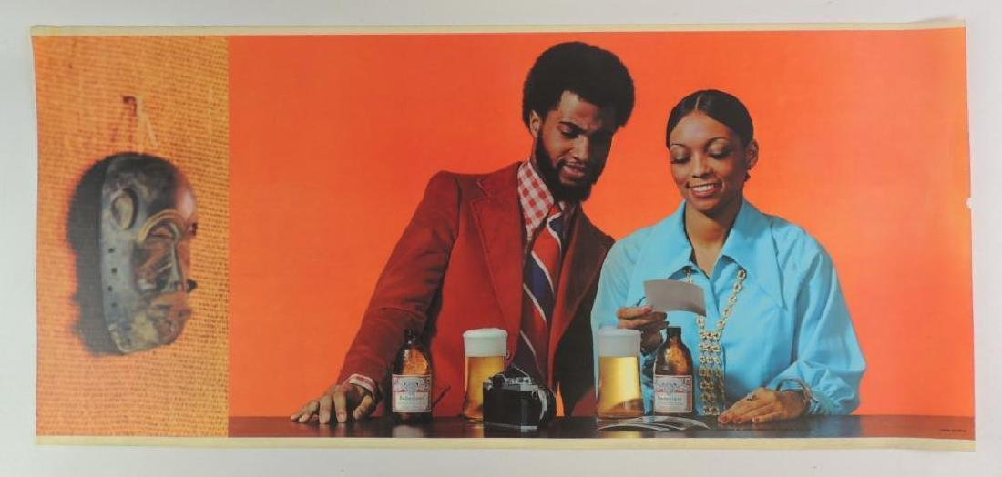 Vintage Budweiser Advertising Beer Sign