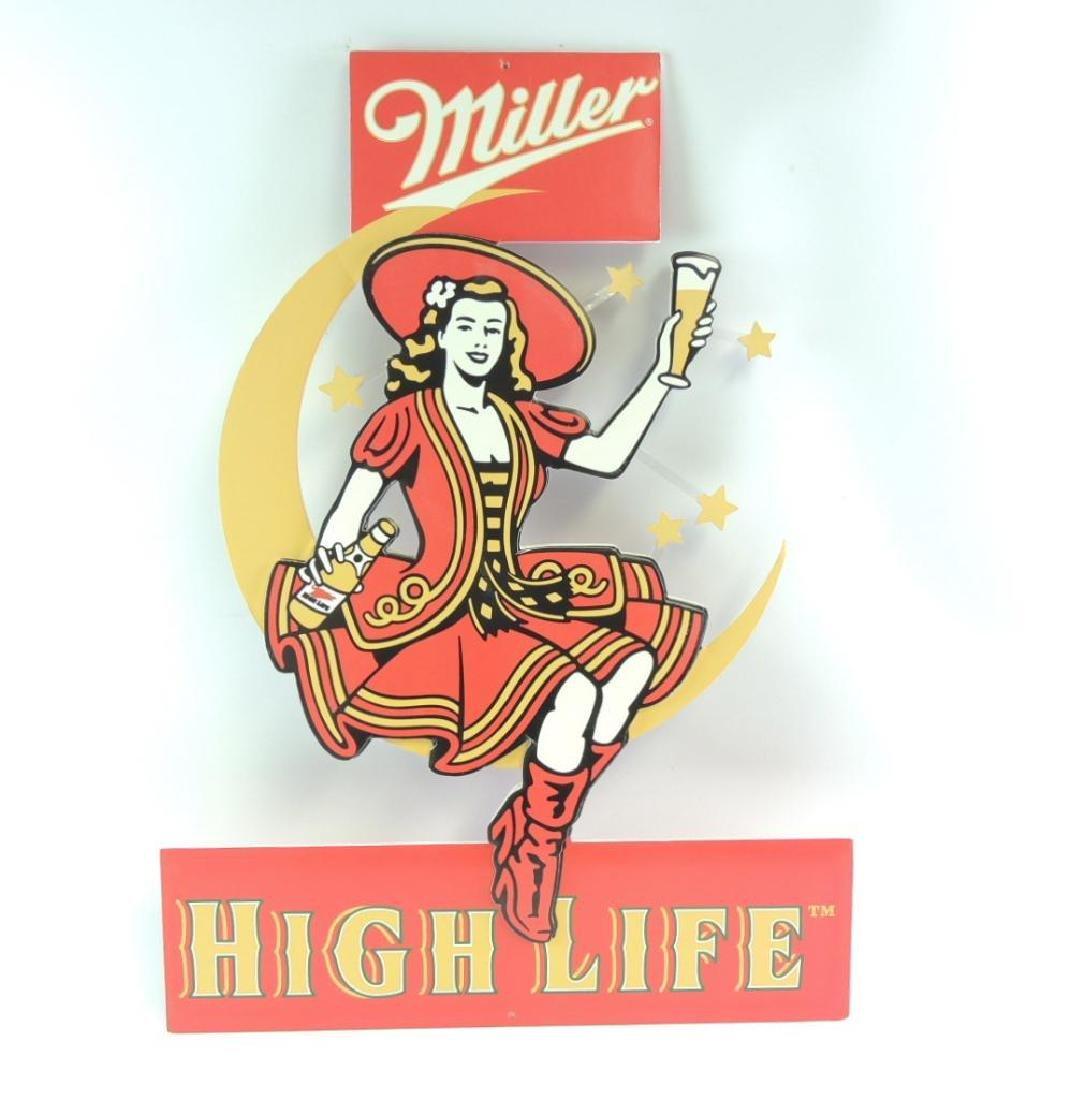 Miller High Life Advertising Foam Board Beer Sign