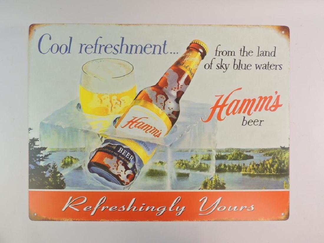 Hamm's Beer Modern Advertising Metal Sign