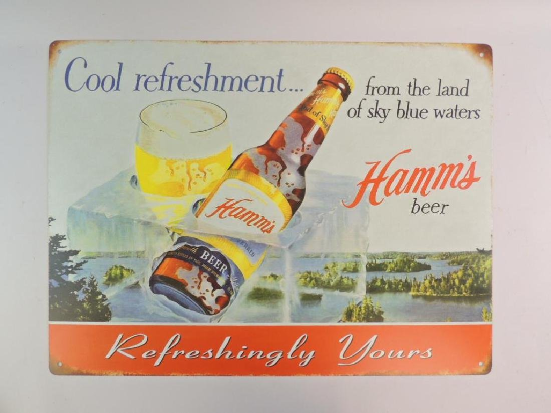 Hamm's Beer Modern Advertising Metal Sign