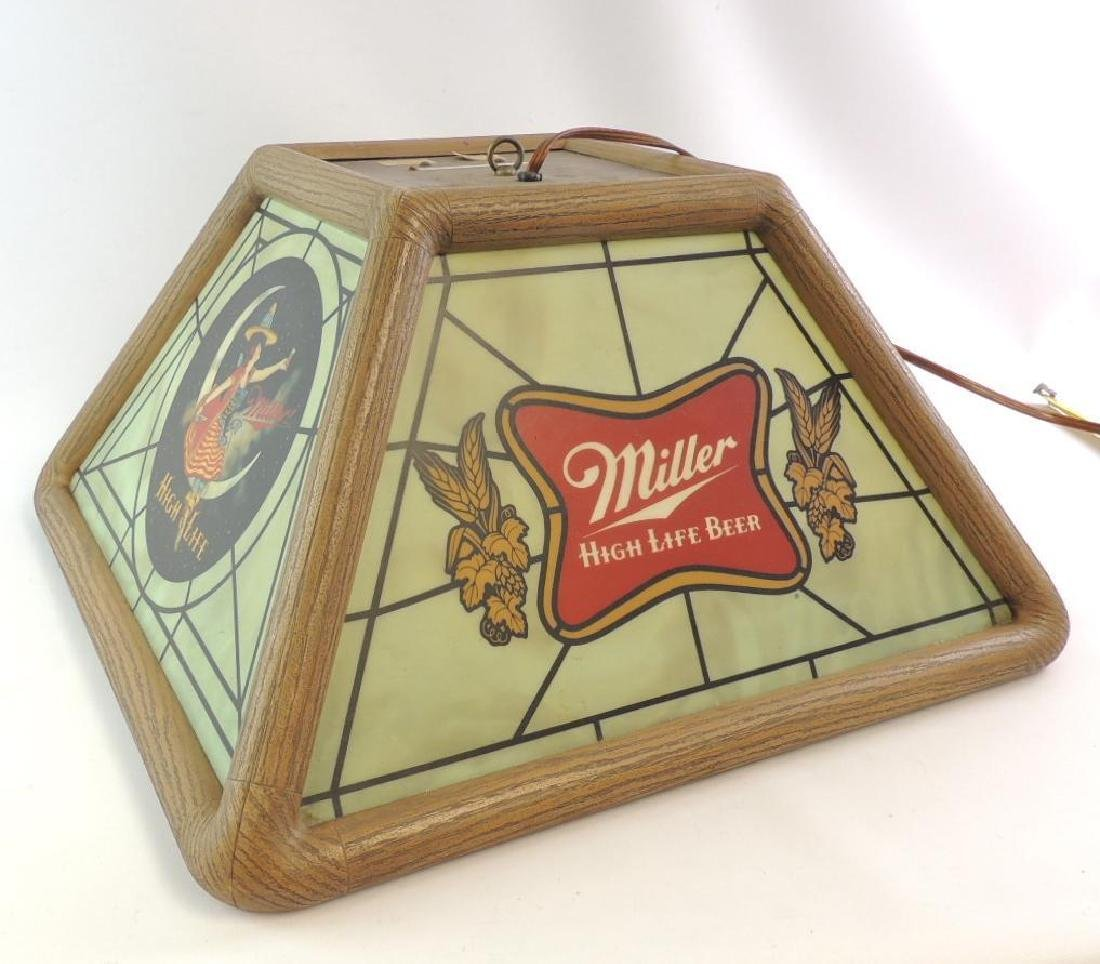 Vintage Miller High Life Advertising Hanging Beer Light