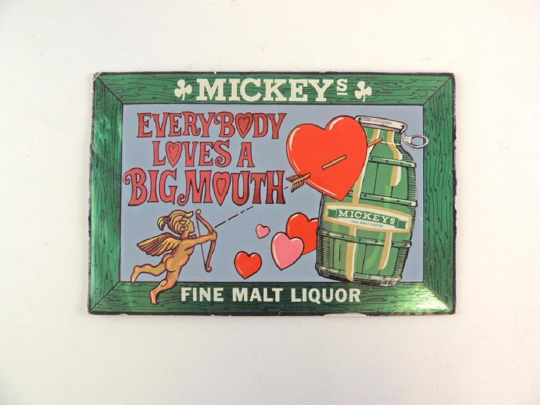Mickeys Malt Liquor Advertising Cardboard Beer Sign