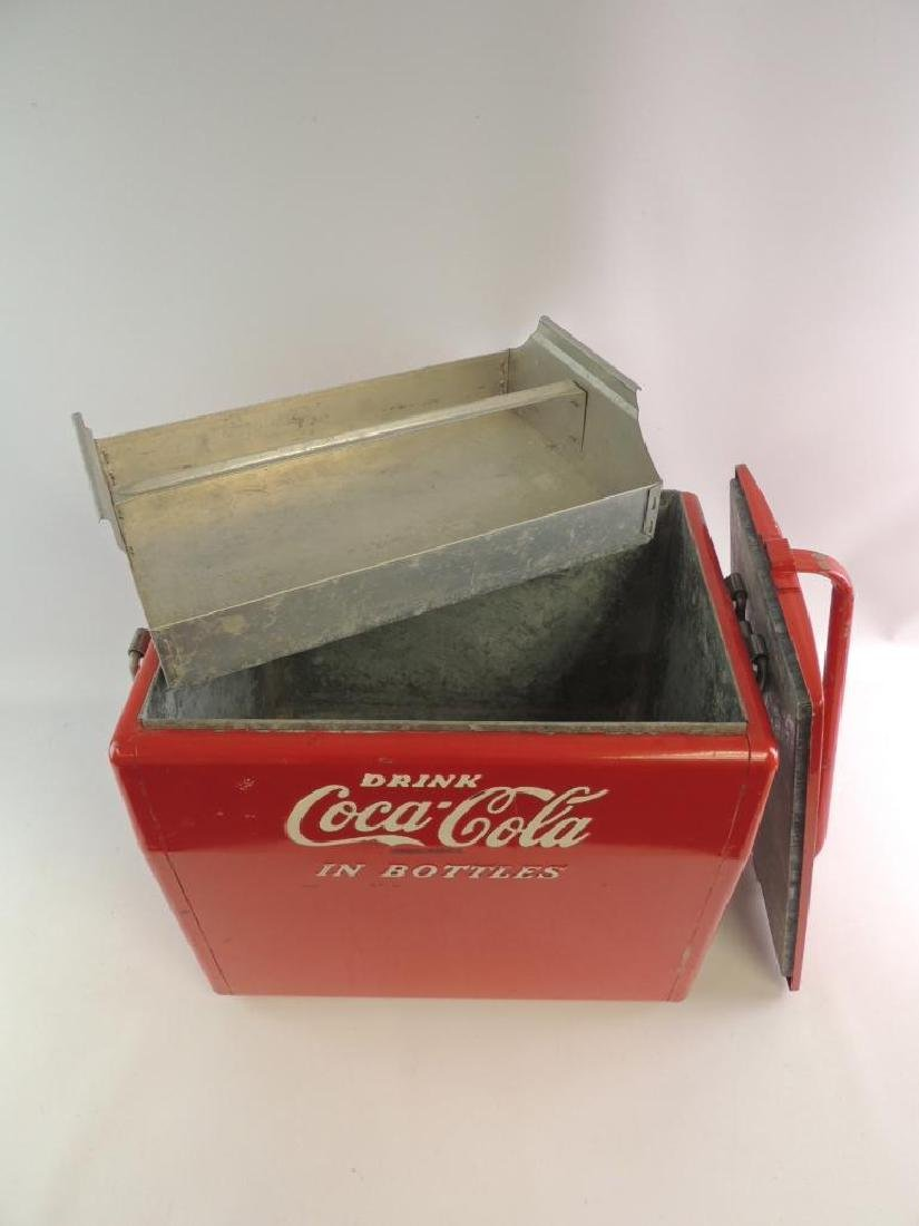 "Vintage Coca-Cola ""In Bottle"" Advertising Metal Cooler - 6"
