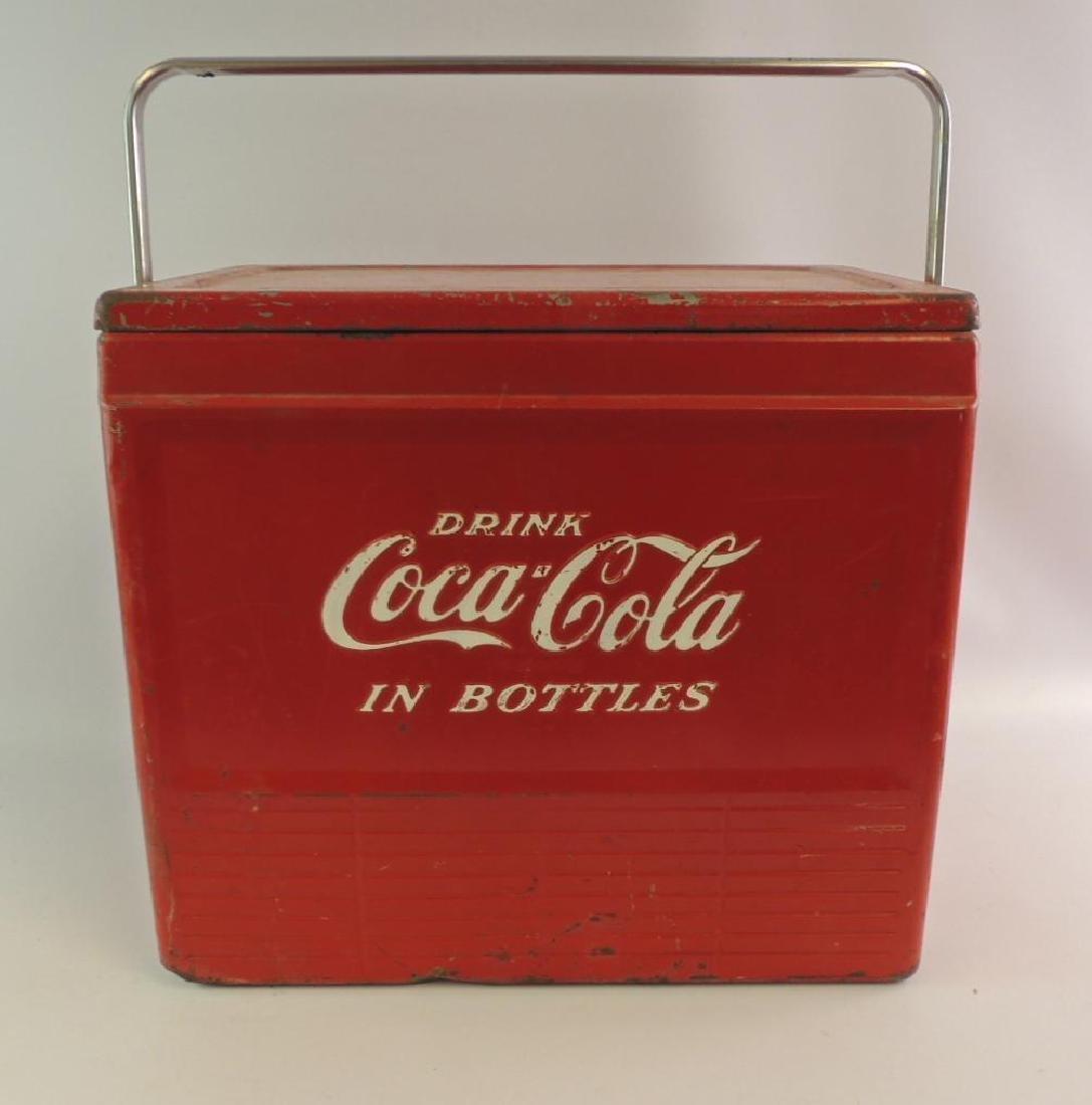 Vintage Coca-Cola Advertising Metal Cooler