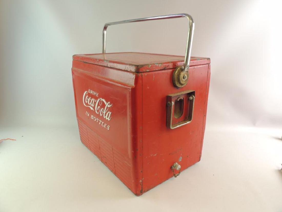 Vintage Coca-Cola Advertising Metal Cooler - 2