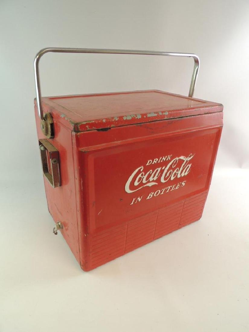 Vintage Coca-Cola Advertising Metal Cooler - 3