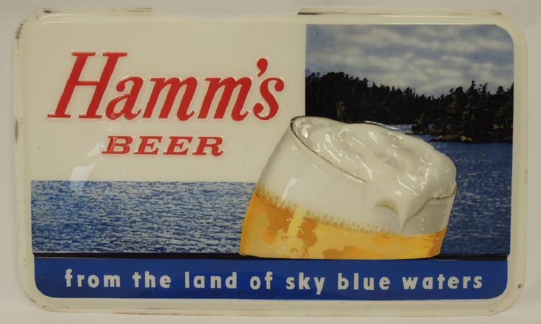 Hamm's Beer Advertising Extoirer Plastic Sign