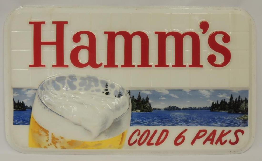 "Hamm's Beer ""Cold 6 Paks"" Advertising Exterior Plastic"