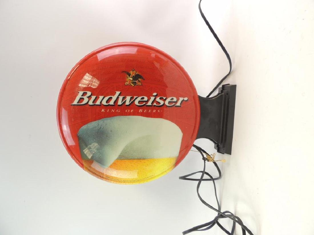Budweiser Advertising Double Sided Light Up Sign