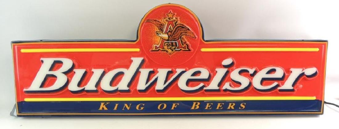 "Budweiser ""King of Beer"" Advertising Light Up Beer Sign"