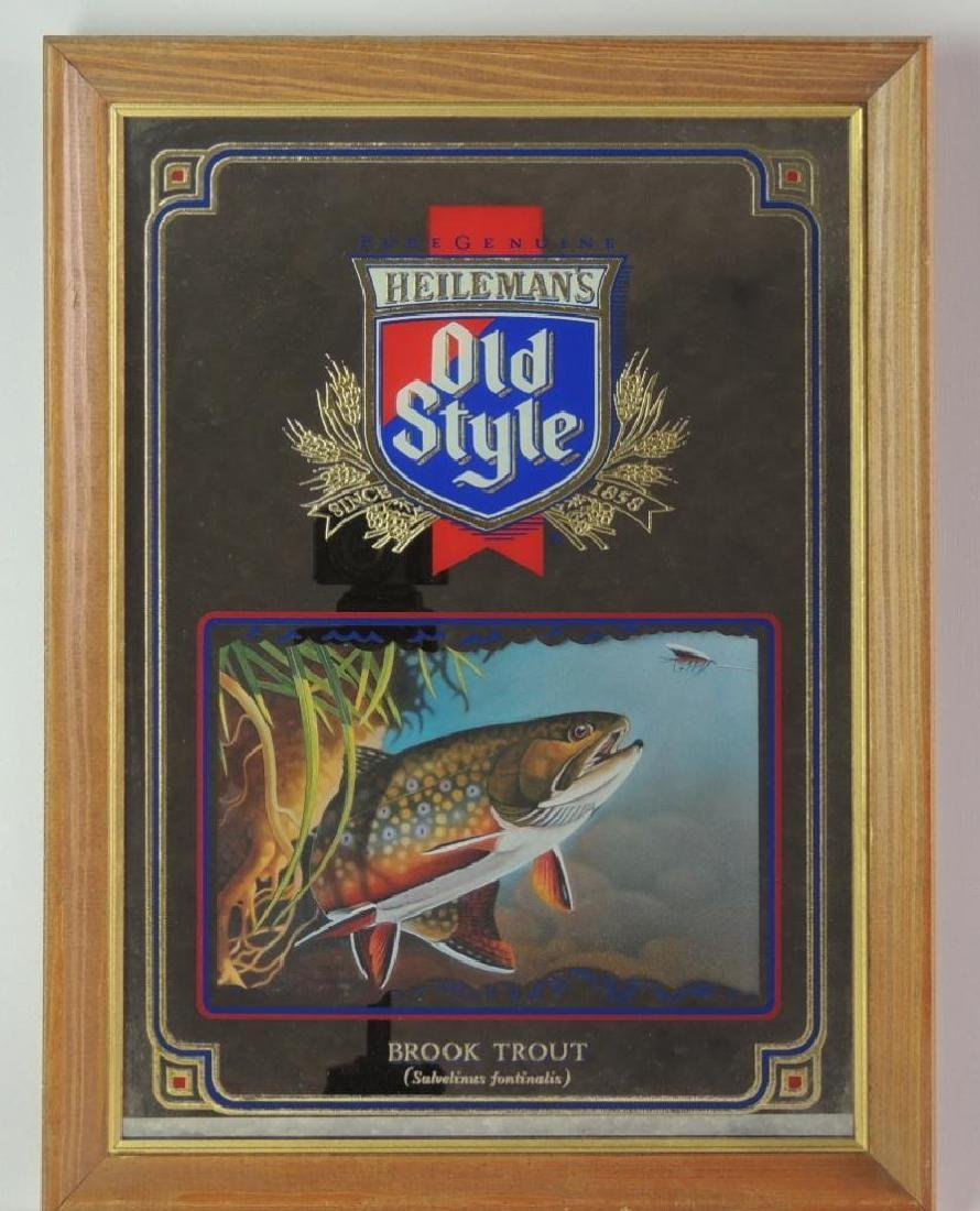 """Vintage Heileman's Old Style """"Brook Trout"""" Advertising"""