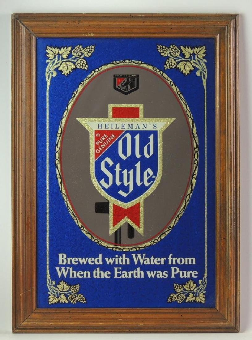 Vintage Heileman's Old Style Advertising Mirror