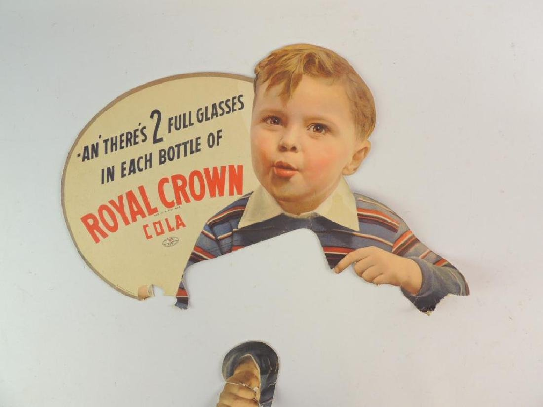 Antique Royal Crown Cola Advertising Cardboard Sign - 2