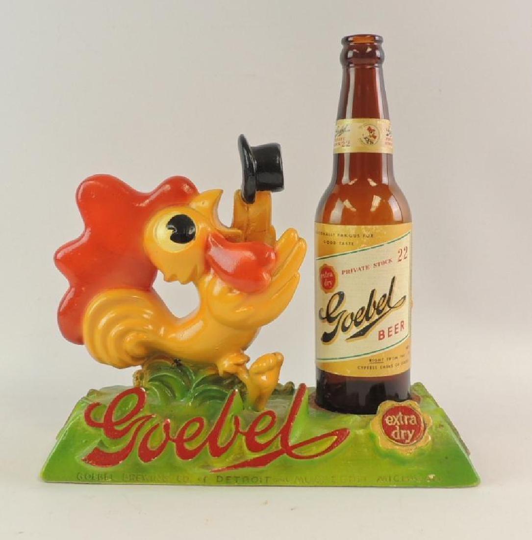 Vintage Goebels Beer Advertising Counter Top Display