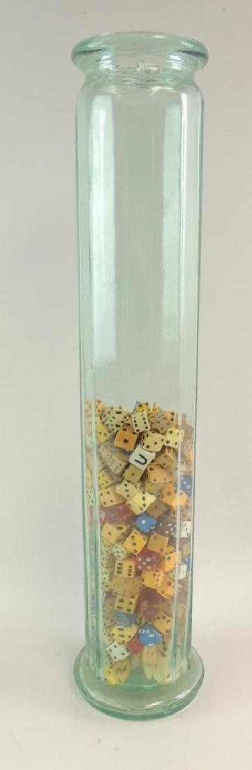 Glass Jar Featuring Vintage Dice