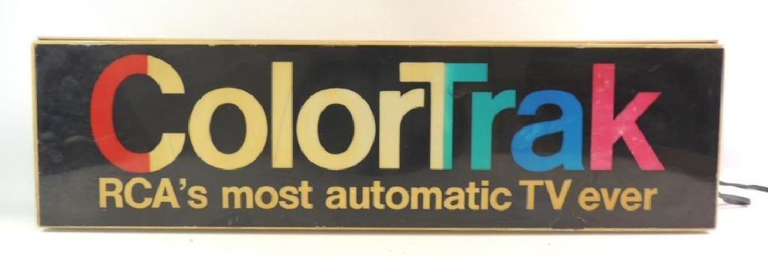 Vintage ColorTrak Advertising Light Up Sign