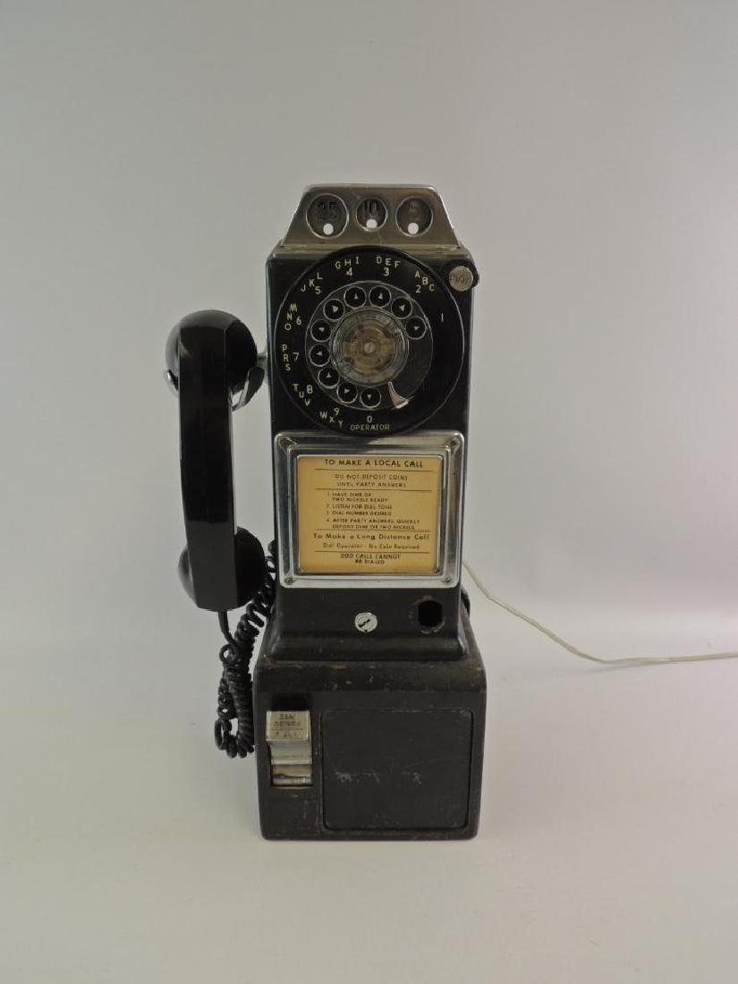 Vintage Coin Operated Rotary Wall Telephone