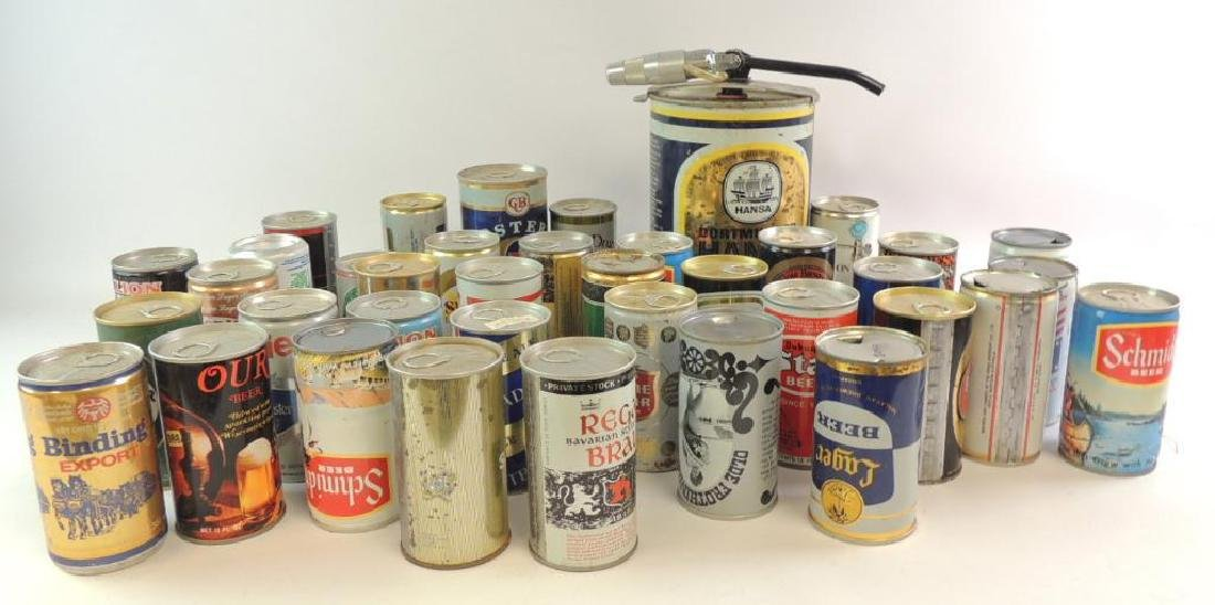 Group of 100 Plus Vintage Beer and Soda Cans